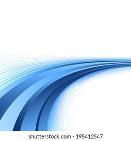Bright blue lines certificate background. Vector illustration