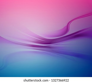 Bright blue and white vector modern futuristic background with abstract waves and gradient
