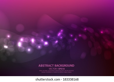 Bright blurred purple abstract background with circles. Vector EPS 10 illustration.
