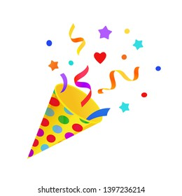 Confetti Clipart Images Stock Photos Vectors Shutterstock ✓ free for commercial use ✓ high quality images. https www shutterstock com image vector bright cartoon birthday symbol fun holiday 1397236214