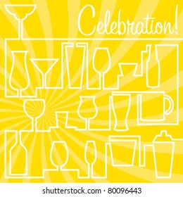 Bright Celebration Card in vector format.