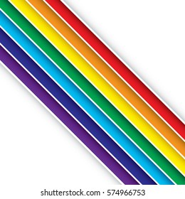 A bright and cheerful set of rainbow vector stripes. This unique background would be suitable for use as wrapping paper or as a textile pattern.