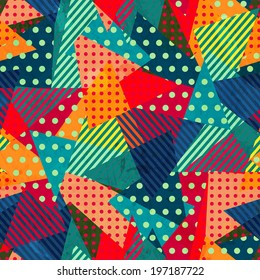 bright cloth seamless pattern with grunge effect