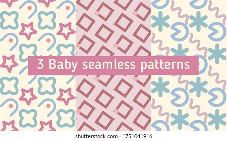 Bright color beautiful background. Tileable images from square and  dot. Summer theme pattern.