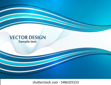 Bright color elegant lines abstract waves. Element of modern business design. Vector illustration.