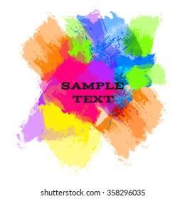 Bright color watercolor blots for your design
