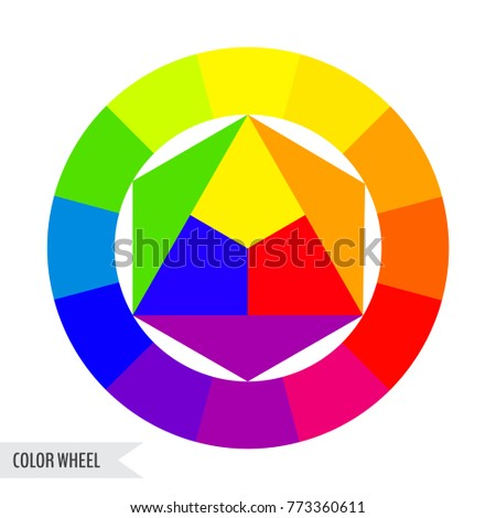 Bright Color Wheel Chart Isolated On Stock Vector Royalty Free