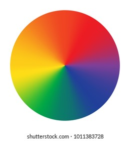 Bright color wheel isolated on white background. Vector Illustration.