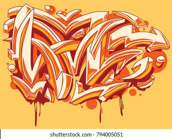 Bright colored funky graffiti arrows