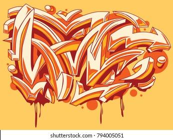 Bright colored graffiti arrows