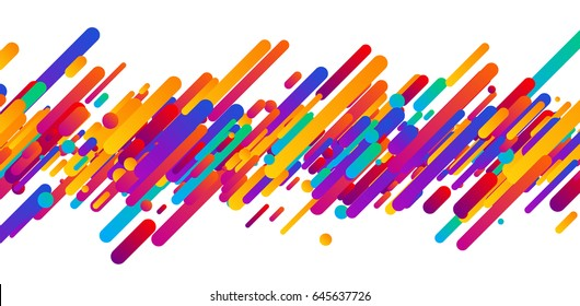 Bright colorful abstract banner on white. Vector paper illustration.