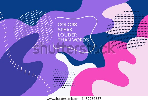 Bright colorful background - modern vector abstract composition
