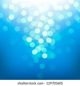 Bright colorful blurred sun and sea, vector background.