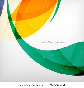 Bright colorful business flowing shapes design template. Futuristic waves