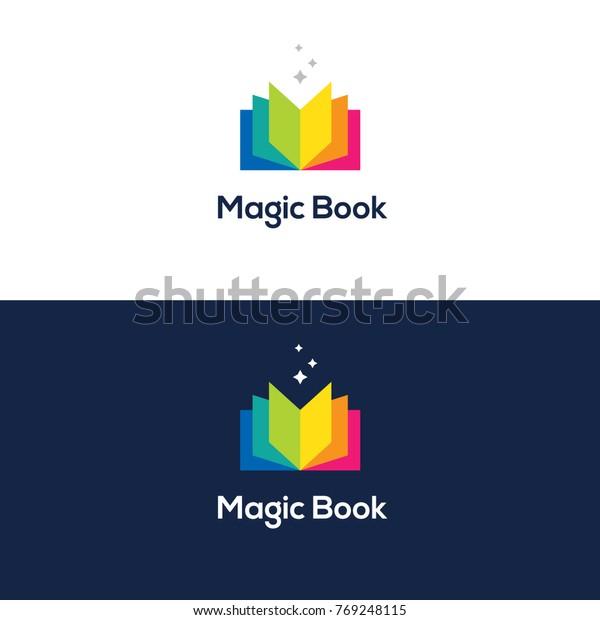 Image Vectorielle De Stock De Logo De Livre Ouvert Et Clair