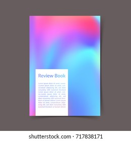Bright colorful portfolio book cover ready to print layout. Modern color harmony office folder template. Fluid gradient Trendy background design. Vector illustration