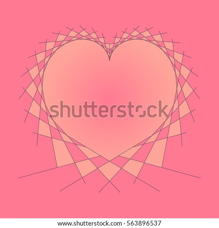 Bright Colorful String Art Heart Vector Stock Vector Royalty Free