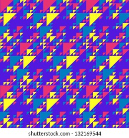 Bright colorful triangles pattern