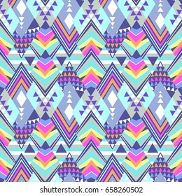 bright and colorful tribal geo - seamless background