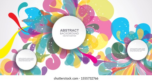 Bright colors abstract design templates  covers, banners, flyers and posters, memphis  flat style.