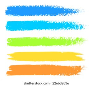 Bright colors vector marker stains