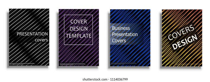 Bright covers illustration isolated over white background. Minimal covers design. Geometric patterns for business presentations