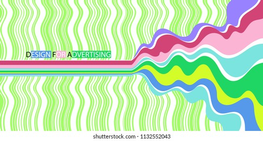 Bright design for the design of banners in the style of the 70's. Vector illustration. Festive picture.
