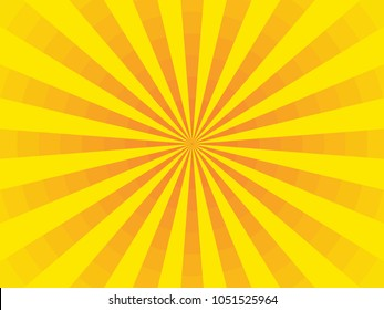 bright divided sunbeams on orange background