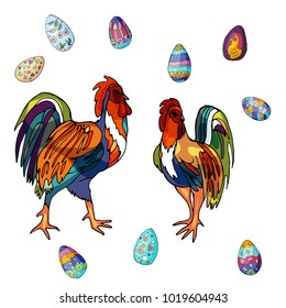 Bright easter chiken