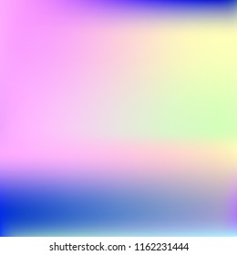 Bright eco gradient. Abstract gradient mesh background.Multicolor blurry blend. Smooth colors texture. Beautiful natural light. Vibrant blur iridescent design. Bright soft gradient. Pastel element.