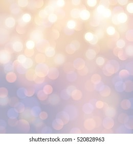 bright festive bokeh /blurred lights background for christmas or winter designs