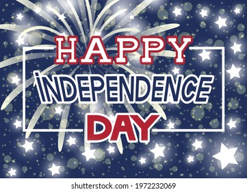 Bright festive illustration for Happy Independence Day. - Shutterstock ID 1972232069