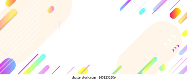 Bright geometric abstract Sale summer backgrounds colorful 3d holiday vector Illustration graphic design poster flyer leaflet party