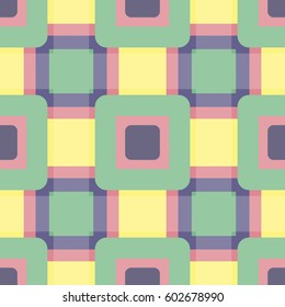 A bright geometric pattern in the style of the 90's.