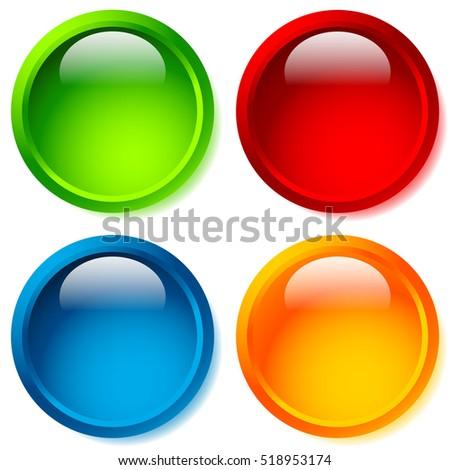 bright glossy circle shape circle background のベクター画像素材