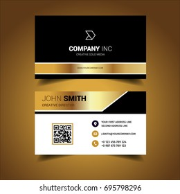 Bright Gold Business Card