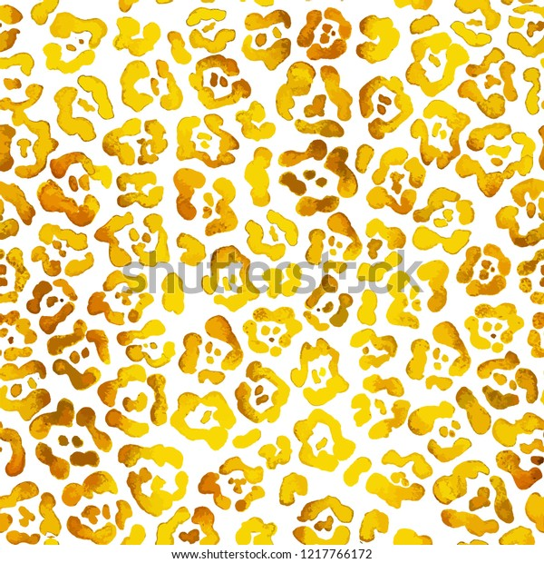 Bright gold leopard spots in cute cartoon style isolated on white background vector.