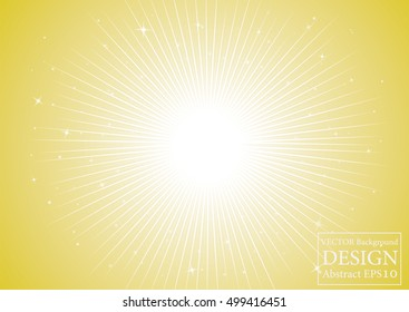 Bright Gold sparkles glitter and rays lights bokeh abstract christmas background/texture.  Vector background.