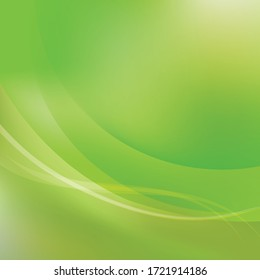 Bright green  waves abstract background