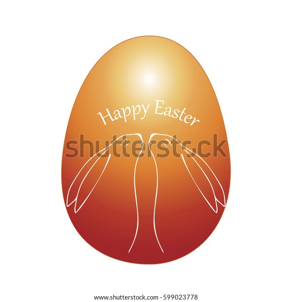 Bright greeting card for Easter with eggs. Color composition with simple geometric figures. Vector illustration