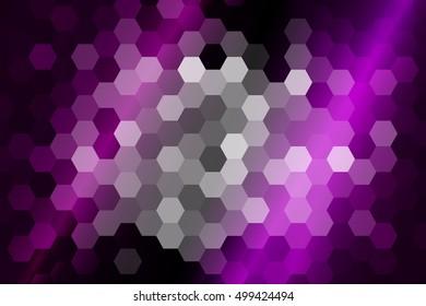 bright hexagon background. purple color. vector illustration. for design flyer, banner, wallpaper