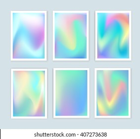 Bright holographic backgrounds set for a different design.