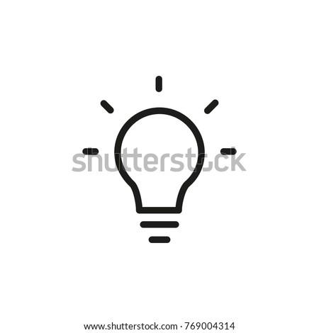 Bright Idea Icon Stock Vector 769004314