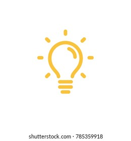 Bright idea symbol, light bulb, bold linear icon