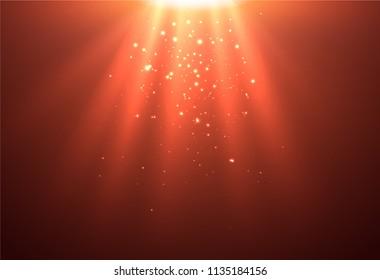 Bright Light Background. Vector Illustration.
