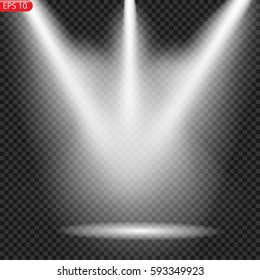 bright light output on the scene, the light bulb, spotlight