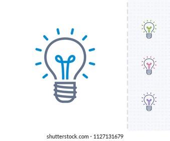 Bright Lightbulb - Vibrant Dash Icons. A professional, pixel-aligned icon.