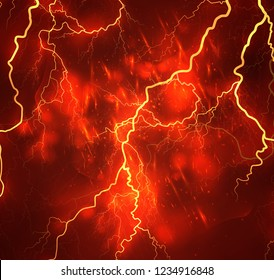 Red Lightning Images Stock Photos Vectors Shutterstock