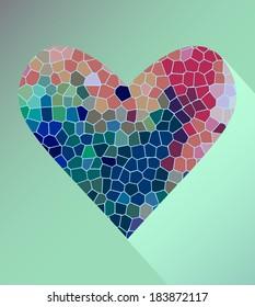 Bright modern diamond hearts Valentine's Day