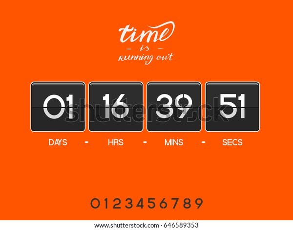 Bright Modern Electronic Countdown Timer Website Stock